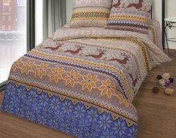 Комплект постельного белья семейный бязь АРТ-Норвежская сказка