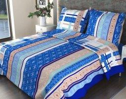 Комплект постельного белья 1,5сп бязь Стандарт Аккорд синий