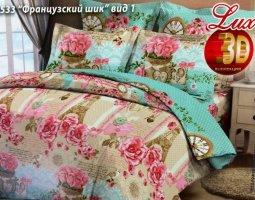 Комплект постельного белья Семейный из бязи ГОСТ Французский шик