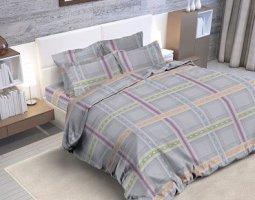 Комплект постельного белья евро из бязи Стандарт Дымка