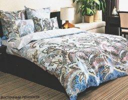 Комплект постельного белья семейный из бязи Стандарт Восточные пряности