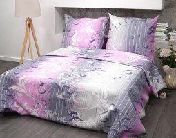 Комплект постельного белья 1,5сп бязь ГОСТ Симфония розовая