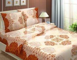 Комплект постельного белья семейный из бязи Традиции текстиля  Королевский коричневый