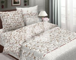 Комплект постельного белья евро из бязи традиции текстиля Хлопок