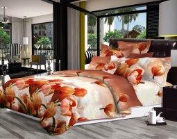 Комплект постельного белья семейный поплин Тайна