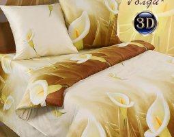 Комплект постельного белья 2сп поплин Голди