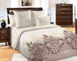 Комплект постельного белья семейный перкаль Загадка с 4-мя наволочками
