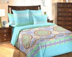 Комплект постельного белья евро mini перкаль Сансара