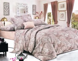 Комплект постельного белья евро сатин Алёна