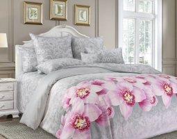 Комплект постельного белья евро сатин Аромат орхидей