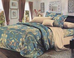 Комплект постельного белья евро сатин Вениамин
