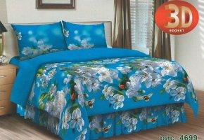 Комплект постельного белья семейный из бязи Стандарт Пробуждение