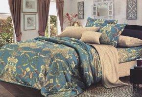 Комплект постельного белья семейный сатин Вениамин