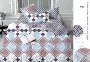 Комплект постельного белья семейный сатин Азимут