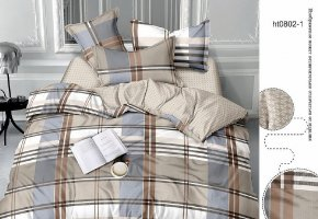 Комплект постельного белья семейный сатин Грей