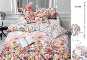 Комплект постельного белья семейный сатин Кенди