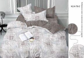 Комплект постельного белья семейный сатин Трепет
