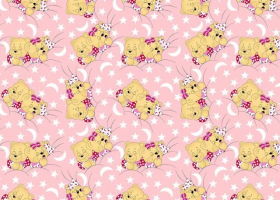 КПБ детский бязь стандарт Соня на розовом