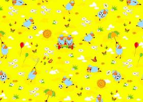 КПБ детский бязь стандарт Овечки на желтом