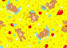 КПБ детский бязь ГОСТ Мишки на желтом
