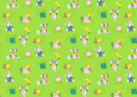 КПБ детский бязь стандарт Братцы кролики на зеленом