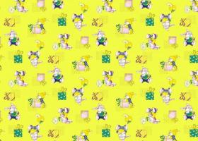 КПБ детский бязь стандарт Братцы кролики на желтом