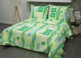 Бязь о/м пл 100 рис 348-2 пикассо зеленый