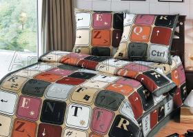 Комплект постельного белья 1,5сп бязь АРТ-Клавиатура