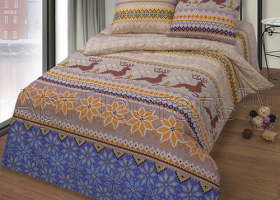 Комплект постельного белья 2сп бязь АРТ-Норвежская сказка