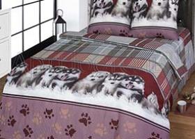 Комплект постельного белья семейный бязь АРТ-Пушистое счастье