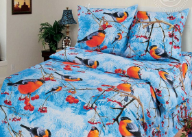 Комплект постельного белья 1,5сп бязь АРТ-Снегири