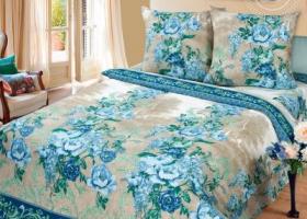 Комплект постельного белья евро бязь АРТ-Гобелен синий