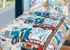 Комплект постельного белья 1,5сп бязь АРТ-Автобан