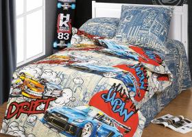 Комплект постельного белья 1,5сп бязь АРТ-Дрифт