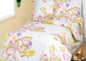 Комплект постельного белья 1,5сп бязь АРТ-Именины
