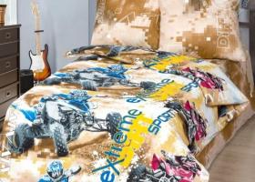 Комплект постельного белья 1,5сп бязь АРТ-Техно