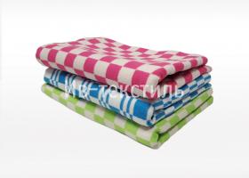 Одеяло байковое детское 110х140 цветная клетка