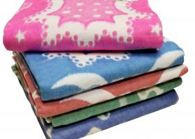 Одеяло байковое детское 100х118 жаккард