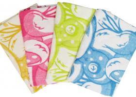Одеяло байковое детское 100х140 жаккард