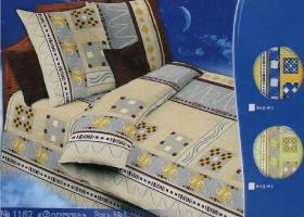 Комплект постельного белья 1,5сп бязь Стандарт Фортуна вид 1