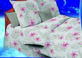 Комплект постельного белья 1,5сп бязь ГОСТ Кружевница с лилиями