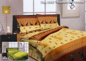 Комплект постельного белья Семейный из бязи ГОСТ Египетские кошки