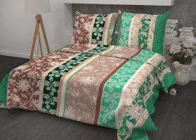 Комплект постельного белья 1,5сп бязь ГОСТ Ажур зеленый