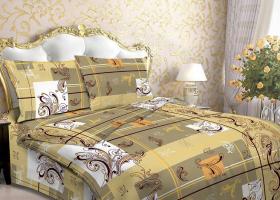 Комплект постельного белья 1,5сп бязь ГОСТ Есения желтая