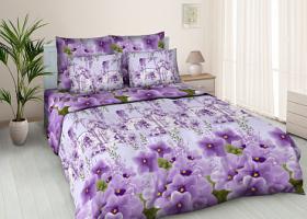 Комплект постельного белья евро бязь ГОСТ Цветочная аллея 2