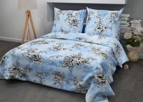 Комплект постельного белья семейный из бязи Стандарт Прованс на голубом