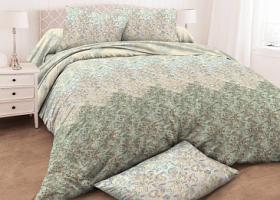 Комплект постельного белья Семейный бязь ГОСТ Лазурный 1