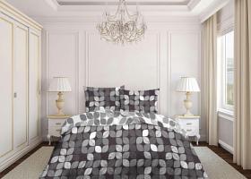 Комплект постельного белья евро бязь ГОСТ Игра цвета