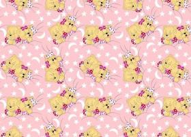 Бязь о/м пл 140 рис 1286-2 Соня розовая