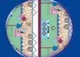 Бязь о/м пл 140 рис 150-3 Арабика голубая